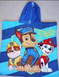 Kids 100% Cotton Hooded Bath Beach Towel Paw Patrol - Elea Toys