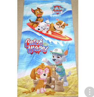 Kids 100% Cotton Bath Beach Bath Pool Towel Paw Patrol