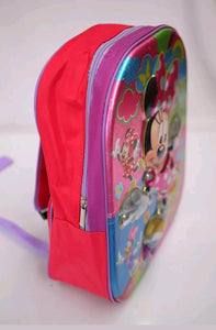 Kids Girls Children 4D Minnie Mouse Backpack