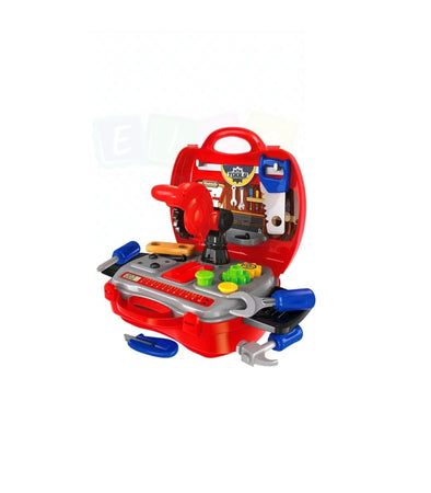 Baby Kids Builder Tools Toy Set Pretend Play Engineer Simulation Red Case - Elea Toys