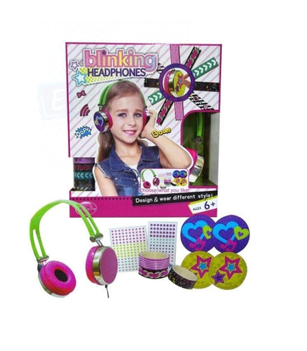 Blinking Headphones For Girls - Design Your Way - Elea Toys