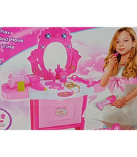 Cute Girl Dressing Table Pretend Play Dressing Make Up Set - Elea Toys