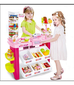 We Accept Pre-Orders🎈Excellent Christmas Gift🎁 Kids Children Pretend Play Deluxe Supermarket Dessert Shop Shopping Toy FULL Set with Electronic Scanner