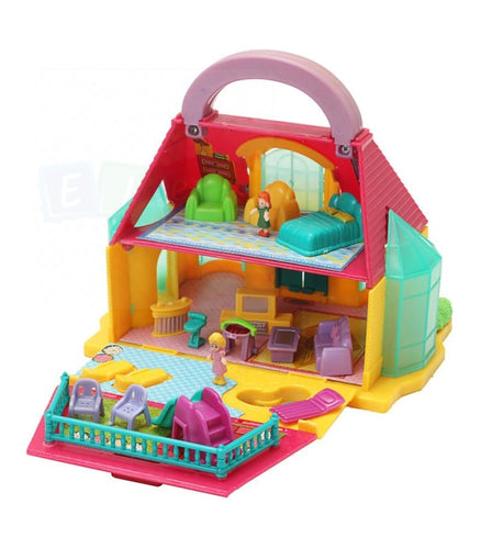 DETACHABLE HAND-HELD DIY 2-STOREY TOWNHOUSE PLAY HOUSE DOLL HOUSE KID CHILD TOY Townhouses with accessories - Elea Toys