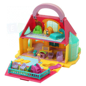 Detachable Hand-Held Diy 2-Storey Townhouse Play House Doll Kid Child Toy Townhouses With