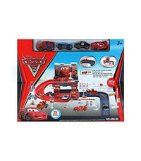 Cars 2 Toy Racing Car Parking Garage - Elea Toys