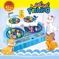 Fishing Games Playset Activity Table Pretend Play Toys W/ Rod And Music.