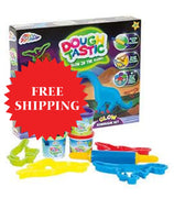 Glow Dinosaur Set Grafix Dough Tastic In The Dark