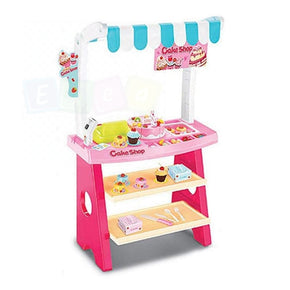 Kids Birthday Cake Shop Pretend Role Play Dessert Toys Set Scanner Cash Register