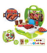 Kids Children Pretend Play Barbecue Cooking Fast Food Set With Case And Accessories