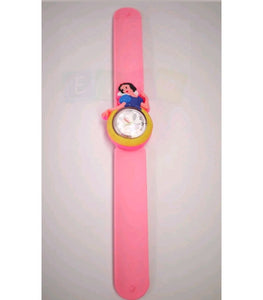 Kids Children Slap Snap On Watch Frozen Snow White Peppa Pig Minnie Mouse Unicorn - Free Shipping