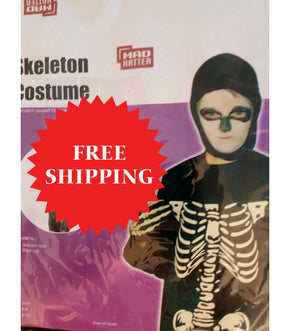 Kids Skeleton Costume Dress Up Free Halloween Knife