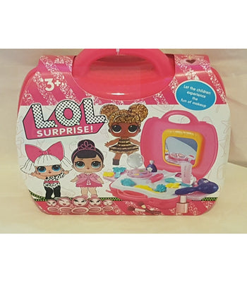 Lol Surprise Girls Dressing Make Up Set Christmas Toy Gift In Carry Bag 18 Pieces