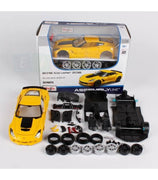 Maisto 1:24 2015 Chevrolet Corvette Z06 Assembly Diy Diecast Model Car Toy New In Box