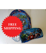 Marvel Avengers Backpack Pencilcase & 45 Puzzles Sets