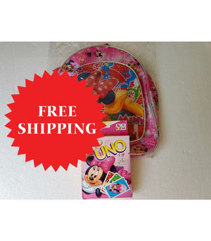 Minnie Mouse Backpack & Uno Set