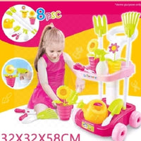 New Kids Fun Bright Colours Pretend Play Garden  Tool Set