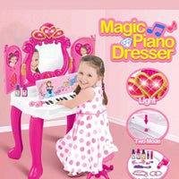 New Kids Fun Magic Piano Dressing Table Girls Makeup