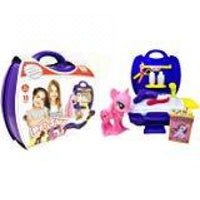 Pet Shop Case & Accessories Set Kids Children Pretend Play