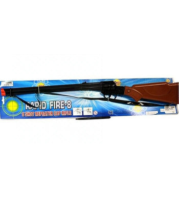 Rapid Fire 8 Shot Repeat Cap Rifle Pretend Play