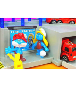 The Smurfs Character Figure Figurines Fire Station Play Set Kid Toy Collection