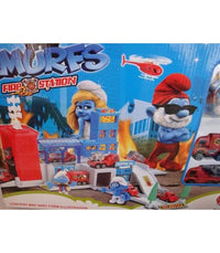 THE SMURFS CHARACTER FIGURE FIGURINES FIRE STATION PLAY SET KID TOY COLLECTION - Elea Toys