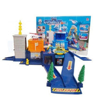 THE SMURFS POLICE STATION PLAY SET PULL BACK CAR + HELICOPTER KID TOY XMAS GIFT - Elea Toys