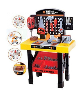Toy Tool Workbench For Kids Construction Workshop Toolbench Playset Pretend Play Work Bench Junior