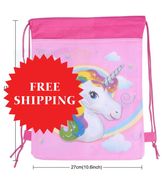 Unicorn Drawstring Bag Backpack Kids