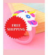 Unicorn High Quality Rainbow Silicone Rings