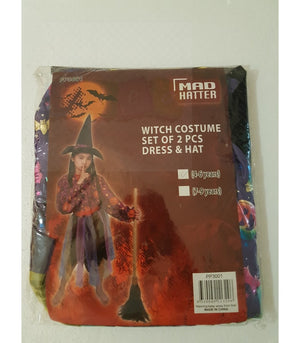 Witch Set Costume Dress Up Girls Age 4-6