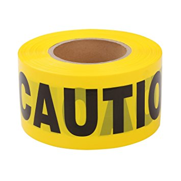 Barricade & Warning Tape (HEAVY-DUTY Poly) - Caution Tape - Case of 12