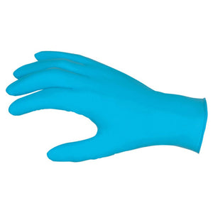 NitriShield Gloves, 4 mil Nitrile Industrial/Food Service Grade, Textured Grip, Powder Free - Box of 100