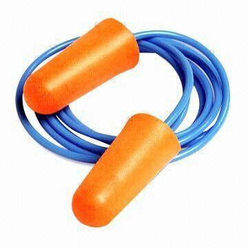 US Standard Products Classic Orange Ear Plugs with Cord - Box of 100 pairs