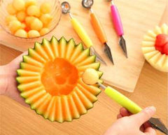 Creative Fruit Carving Knife Watermelon Baller Ice Cream Dig Ball Scoop Spoon Baller Diy Assorted Cold Dishes Tool