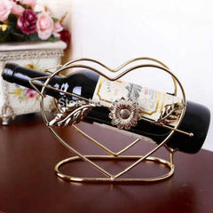 1PC Iron crafts creative heart-shaped wine holder Home Furnishing table ornaments wholesale wine rack