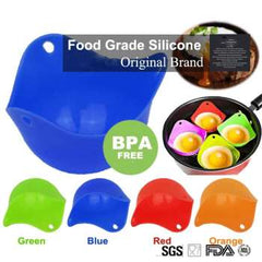 1Pcs Round Silicone Egg Poacher Poaching Pods Bowl Rings Cooker Kitchen Boiler Cuit Oeuf Dur Cooking Tools Pancake Maker