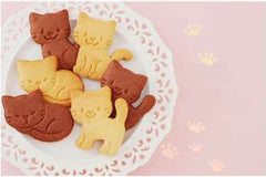 3Pcs/set Cute Cat Cookie Molds Fondant Cutter Biscuit Cutter Cake Pastry Mold Decoration Kitchen DIY Baking Supplies