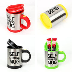 400ml Stainless Steel Thermal Cup Coffee Milk Mixing Mug Electric Lazy Double Insulated Smart Cup Automatic Self Stirring Mug