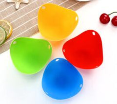 4pc/1pc Egg Poachers Silicone Egg Cooker Kitchen Tools Pancake Cookware Bakeware Steam Eggs Plate Tray Healthy Egg Pancake