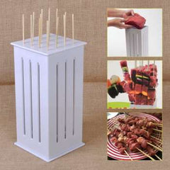 Barbecue Skewer BBQ Grill Accessories Tools Brochettes BBQ Meat Skewer Machine Kebab Maker Set
