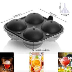 Big Ice Hockey Silicone Mold Ice Box Multifunctional 4-Cavity Silicone Ball Ice Cube Maker Cocktail Whiskey