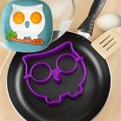 Cats Skull Owl Shape Baking Accessories Egg Mold Silicone Egg Mold Breakfast Fried Eggs Template Kitchen Cooking Gadgets