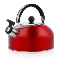 Chaleira Whistling Kettle Stainless Steel Flat Bottom Beeping Hemisphere Hot Water Bottle 3L Stove Top Hob Kitchenware Tea