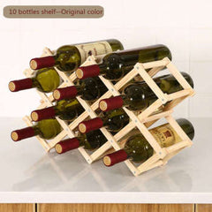 Collapsible Wooden Wine racks bottle cabinet stand Holders wood shelf organizer storage for retro display cabinet