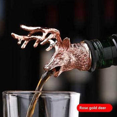 Deer Stag Head Wine Pourer Unique Wine Bottle Stoppers Wine Aerators Bar Tools Get Together Gift