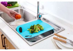 Foldable Plastic Chopping Block Kitchen Cutting Board Non-slip Portable Camping Outdoor Fruit Meat Vegetable Mat