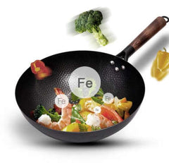 Iron Non-Coating Pot cast iron pan General use for Gas and Induction Cooker Chinese Wok Cookware Pan Kitchen Tools