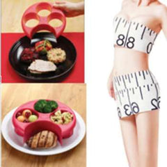 New Healthy Red Meal Measure Perfect Portion Weight Control Plate Diet Slimming Naturalize Manage Control Plate PC889543