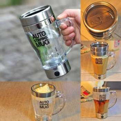 New Self Stirring Mug Lazy Electric Stainless Steel Coffee tea Cup with Lid Self Mixing Cup Auto Magnetic Stirring Coffee Mug